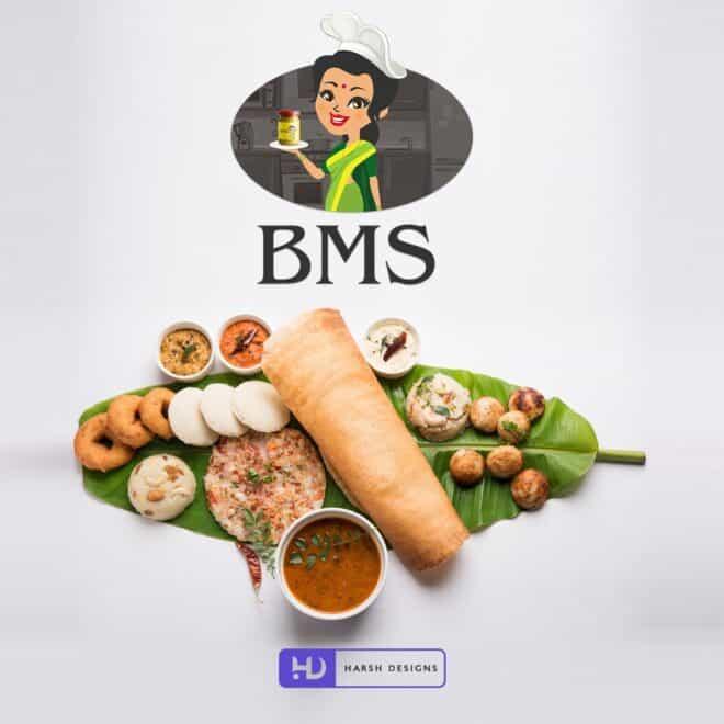 BMS Foods - Food Logo Design - Mascots Design - Corporate Lo - Graphic Designing Service in Hyderabad