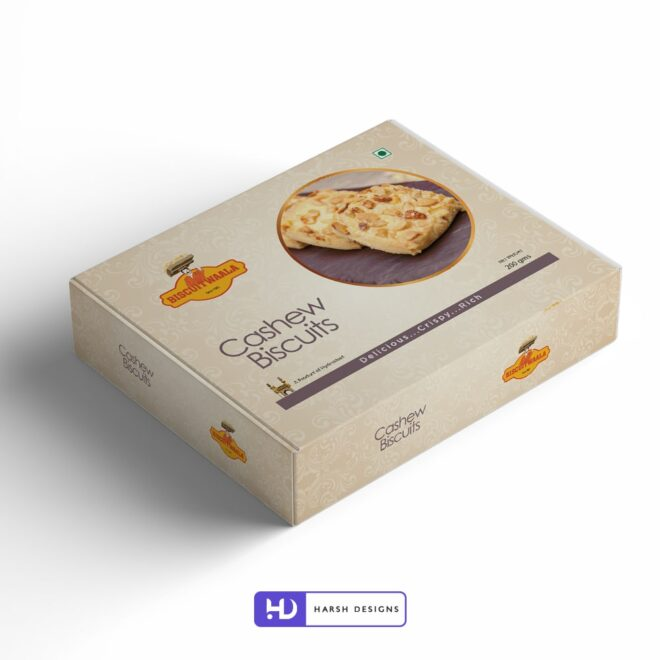 Biscuitwaala - Cashew Biscuits - Product Design - Lable Designs - Package Design - Graphic Designing Service in Hyderabad