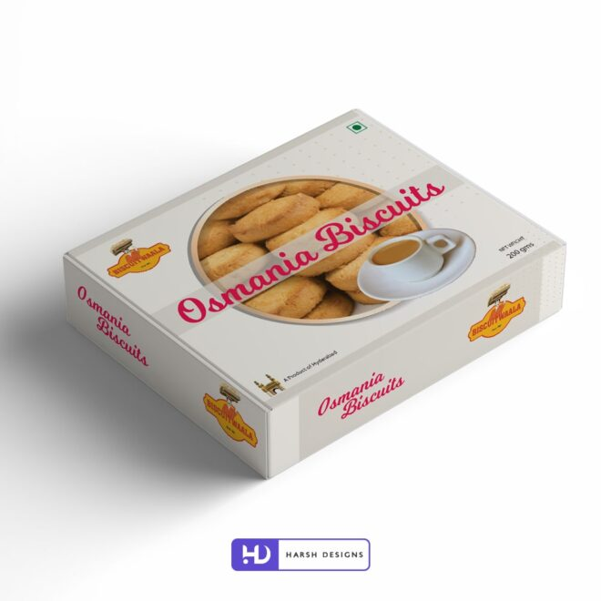 Biscuitwaala - Osmania Biscuits - Product Design - Lable Designs - Package Design - Graphic Designing Service in Hyderabad