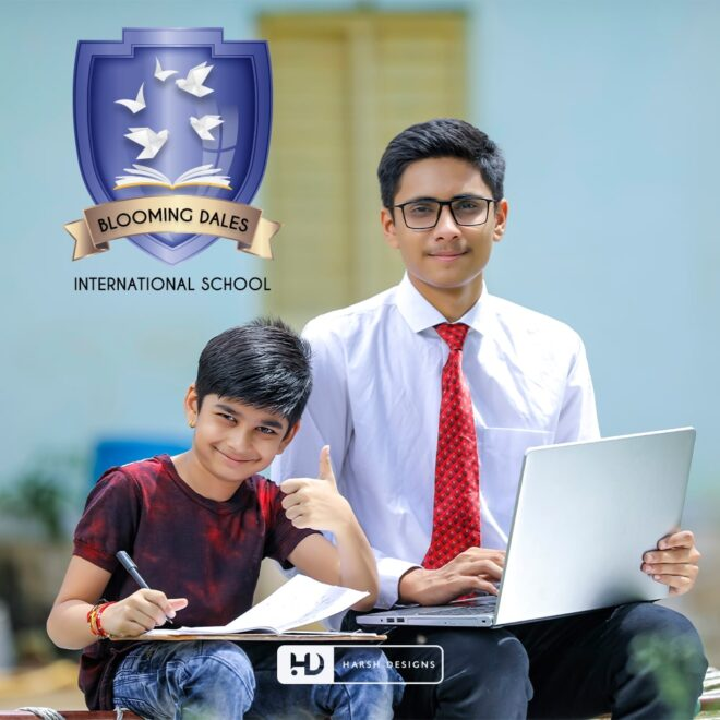 Blooming Dales International School - Emblem Design - Corporate Logo Design - Graphic Design Service in Hyderabad - Logo Design Service in Hyderabad