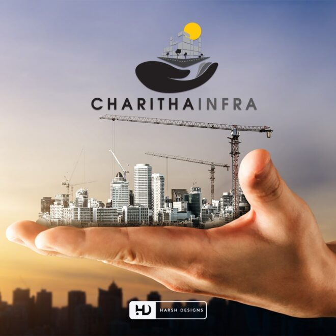Charitha Infra - Construction Logo Design - Real Estate Logo Design - Abstract Logo Design - Corporate Logo Design - Graphic Designing Service in Hyderabad