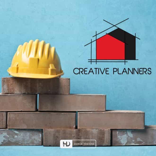 Creative Planners - Construction Logo Design - Real Estate Logo Design - Pictorial Logo Design Mark - Corporate Logo Design - Graphic Designing Service in Hyderabad
