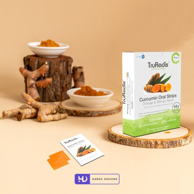 Curcumin 2 - Ultrasol - Orally Dissolving Strips - Forefathers Products - TruRadix Products - Product Design - Lable Designs - Package Design - Graphic Designing Service in Hyderabad-min