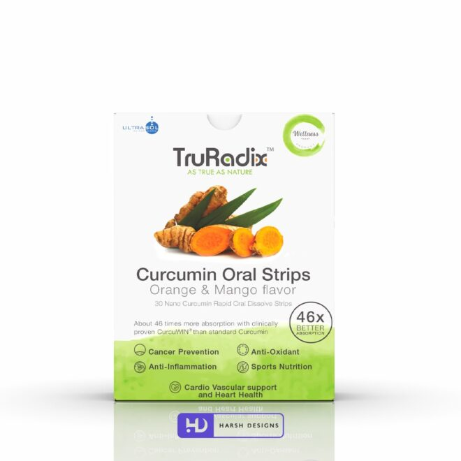 Curcumin - Ultrasol - Orally Dissolving Strips - Forefathers Products - TruRadix Products - Product Design - Lable Designs - Package Design - Graphic Designing Service in Hyderabad-min
