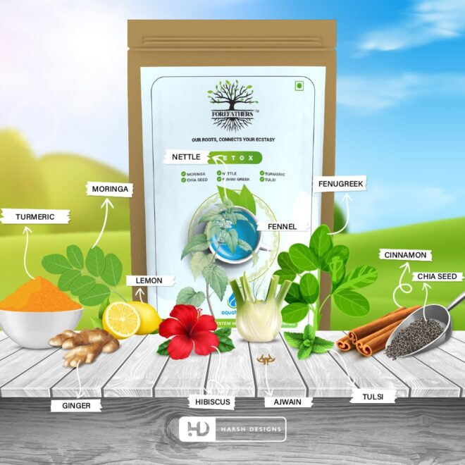 Detox Tea 2 - Forefathers Products - TruRadix Products - Premium Teas - Product Design - Lable Designs - Package Design - Graphic Designing Service in Hyderabad-min