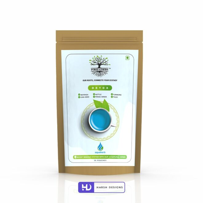 Detox Tea - Forefathers Products - TruRadix Products - Premium Teas - Product Design - Lable Designs - Package Design - Graphic Designing Service in Hyderabad-min