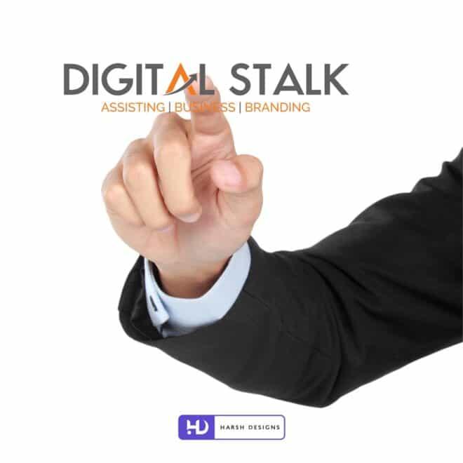 Digital Stalk Assisting - Business - Branding - Informatonal Technology Logo - Wordmark Logo Design - Web development Logo Design - Corporate Logo Design - Graphic Design Service in Hyderabad - Logo Design Service in Hyderabad