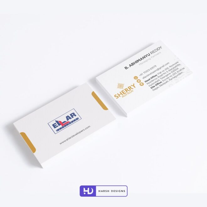 Ellar Developers Business Card Design - Corporate Identity and Business Stationery Design - Harsh Designs - Stationery Design / Brochure Design Service in Hyderabad - Graphic Design Service in Hyderabad