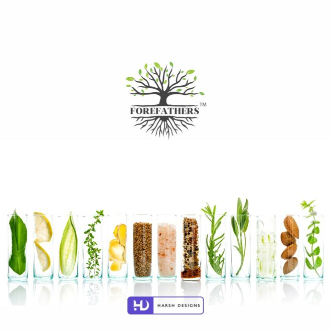 Forefathers - Herbal Logo Design - Pictorial Mark Logo Design - Nature Logo Design - Corporate Logo Design - Graphic Design Service in Hyderabad - Logo Design Service in Hyderabad