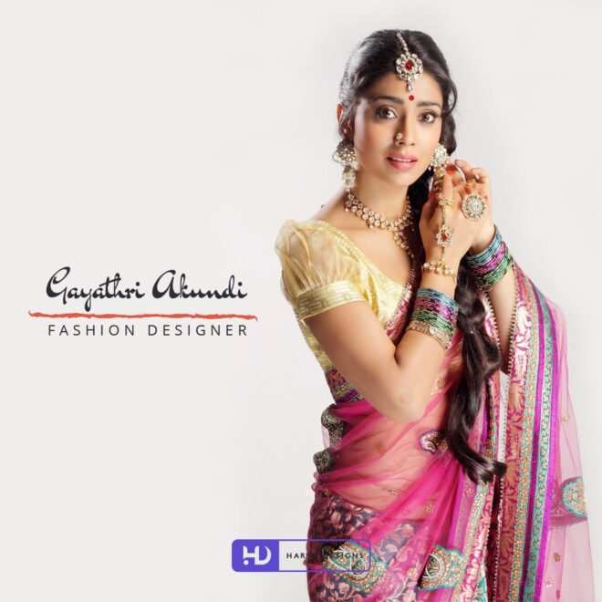 Gayathri Akundi Fashion Designer - Fashion Logo Design - Word Mark Logo Design - Indian Traditional Saree - Shriya Saran Indian Actress - Corporate Logo Design - Graphic Design Service in Hyderabad - Logo Design Service in Hyderabad