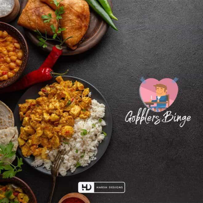 Gobblers Binge - Food Logo Design - Mascots Logo Design - Character Logo Design - Kitchen Logo Design - Corporate Logo Design - Graphic Designer Service in Hyderabad-min