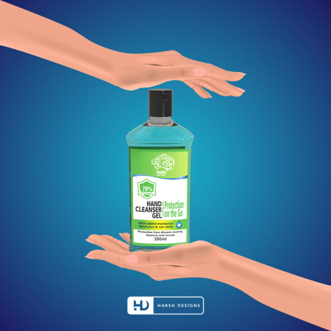 Hand Cleanser Gel - Hand Santiser - Tiger Born to Rule - Product Design - Lable Designs - Package Design - Graphic Designing Service in Hyderabad 2