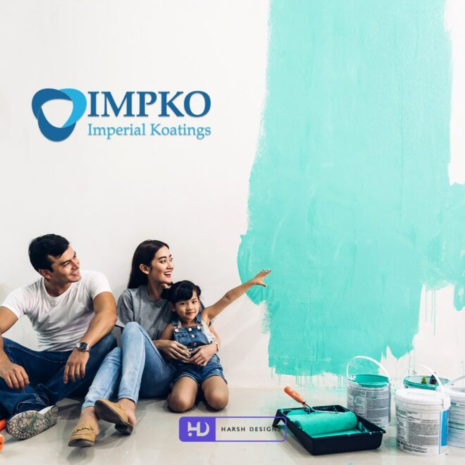 IMPKO Imperial Koatings - Painting Company Logo Design - Abstract Logo Design - Corporate Logo Design- Graphic Design Service in Hyderabad - Logo Design Service in Hyderabad
