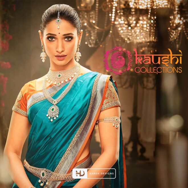 Kaushi Collections - Fashion Logo Design - Combination Logo Design - Tamanna Bhatia Indian Actress - Corporate Logo Design - Graphic Design Service in Hyderabad - Logo Design Service in Hyderabad
