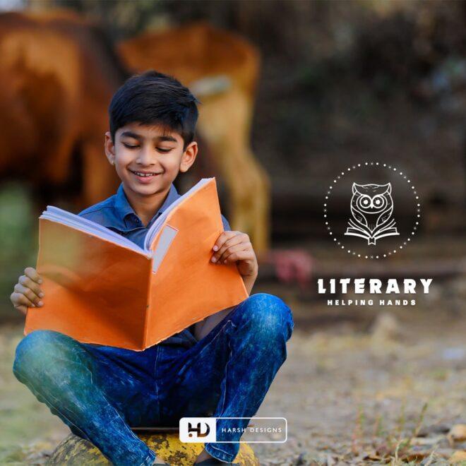 Literacy Helping Hands - Education Logo Design - NGO Logo Design - Emblem Logo Design - Corporate Logo Design - Graphic Design Service in Hyderabad - Logo Design Service in Hyderabad