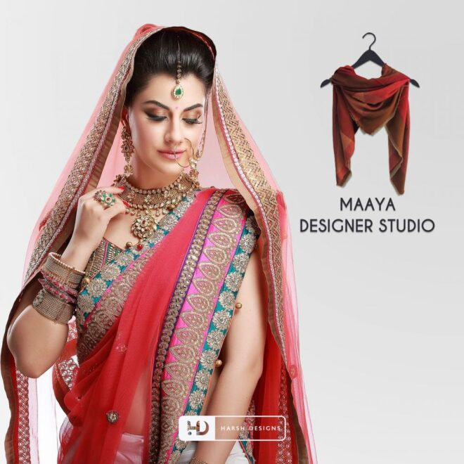 Maaya Designer Studio - Fashion Logo Design - Pictorial Mark Logo Design - Indian Traditional Saree - Corporate Logo Design - Graphic Design Service in Hyderabad - Logo Design Service in Hyderabad