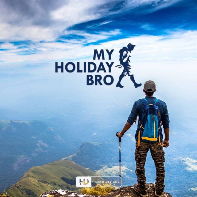 My Holiday Bro - Make My Trip Logo Design - Travel Logo Design - Vacation Logo Design - Pictorial Mark Logo Design - Indian Logo Design - Corporate Logo Design - Graphic Designer Service in Hyderabad-min