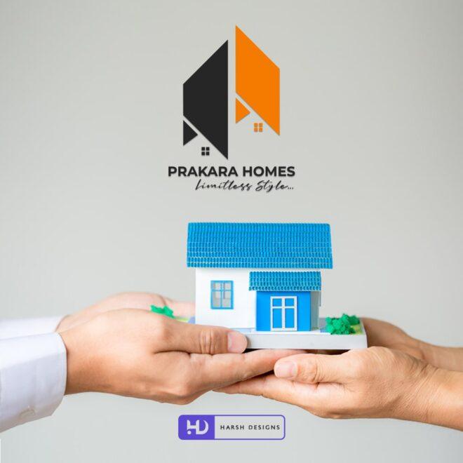 Prakara Homes Limitless Style - Real Estate Logo Design - Construction Logo Design - Abstract Logo Design - Indian Logo Design - Corporate Logo Design - - Graphic Design Service in Hyderabad - Logo Design Service in Hyderabad