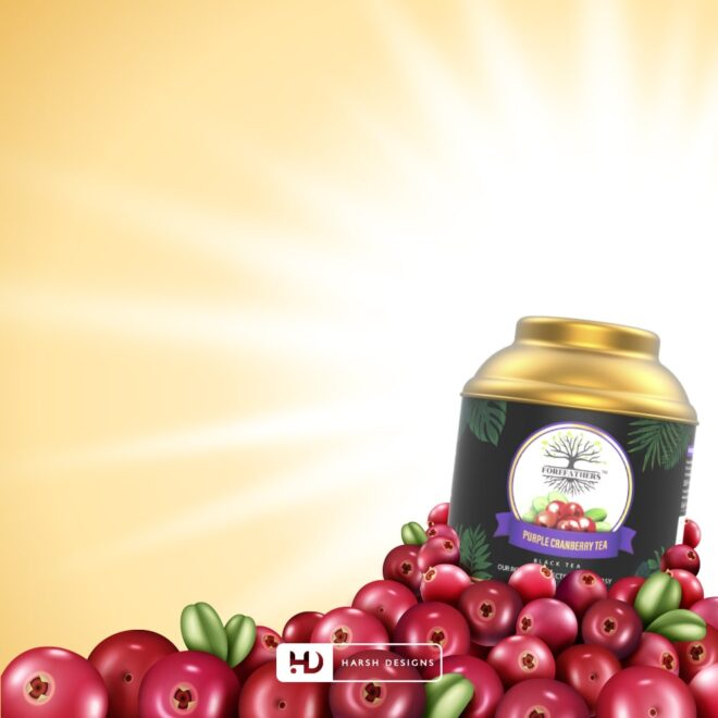 Purple Cranberry Tea 2 - Forefathers Products - TruRadix Products - Premium Teas - Product Design - Lable Designs - Package Design - Graphic Designing Service in Hyderabad-min