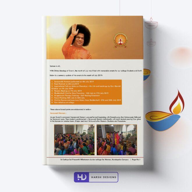 Sathya Sai Baba Magazine Design - Corporate Identity and Business Stationery Design - Harsh Designs - Stationery Design / Brochure Design Service in Hyderabad - Graphic Design Service in Hyderabad