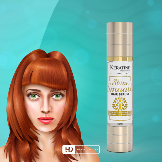 Shine Smooth - Hair Serum - A Treatment for Dry Hair - Product Design - Lable Designs - Package Design - Graphic Designing Service in Hyderabad 2