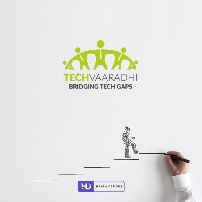 Tech Vaaradhi Bridging Tech Gaps - Informatonal Technology Logo - Combination Logo Design - Web development Logo Design - Corporate Logo Design - - Graphic Design Service in Hyderabad - Logo Design Service in Hyderabad