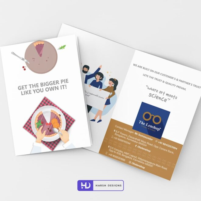 The Lenshop Brochure Design - Corporate Identity and Business Stationery Design - Harsh Designs - Stationery Design / Brochure Design Service in Hyderabad - Graphic Design Service in Hyderabad