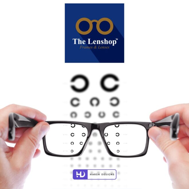 The Lenshop Frames and Lenses - Spects Logo Design - Lens Logo Design - Minimalistic Logo Design - Spectacles Logo Design - Corporate Logo Design - - Graphic Design Service in Hyderabad - Logo Design Service in Hyderabad