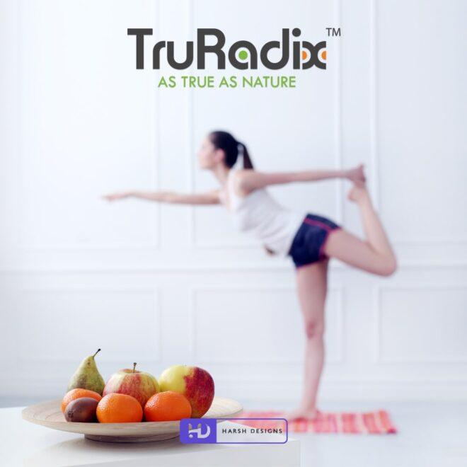 TruRadix As True As Nature - Nutraceuticals Logo Design - Nutrition Logo Design - Abstract Typography Logo Design - Corporate Logo Design - Graphic Designer Service in Hyde-min