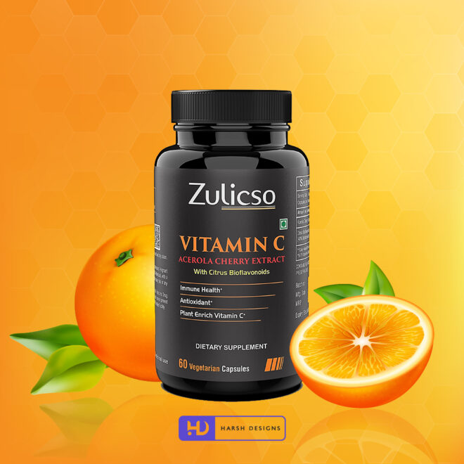 Vitamic C - Acerola Cherry Extract - Zulicso - Product Design - Lable Designs - Package Design - Graphic Designing Service in Hyderabad 2