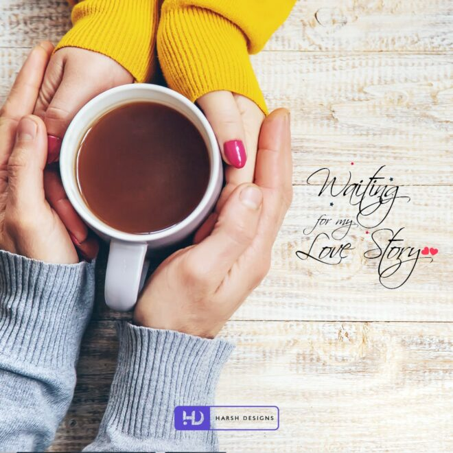 Waiting for my Love Story - Movie Title Logo Design - Short Film Logo Design - Word Mark Logo Design - Couple Logo Design - Corporate Logo Design - - Graphic Design Service in Hyderabad - Logo Design Service in Hyderabad